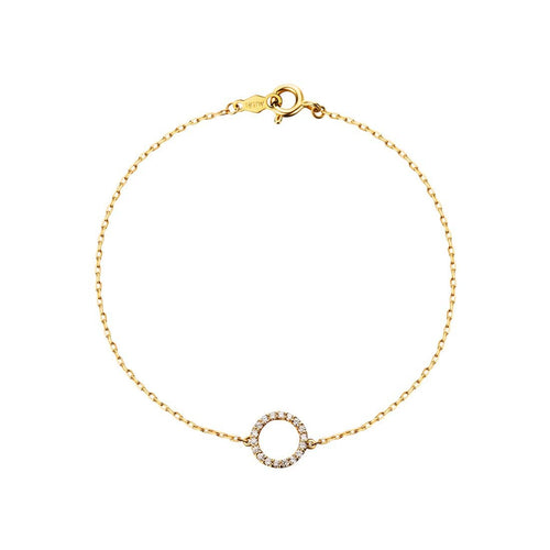 Line&Dots Circle of Love Diamond Pendant Bracelet