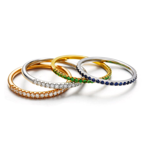 Line&Dots Stackable Paved Ring - FANCI ME