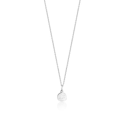 Zodiac Round Disc Pendant Necklace - FANCI ME