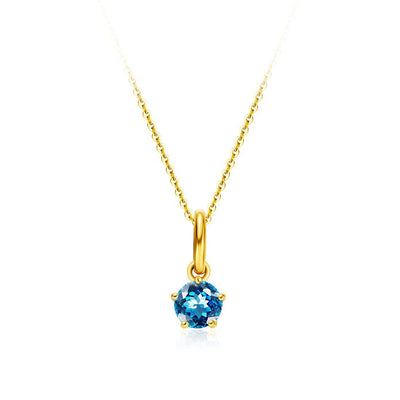 Delicate November Birthstone Topaz Necklace - FANCI ME