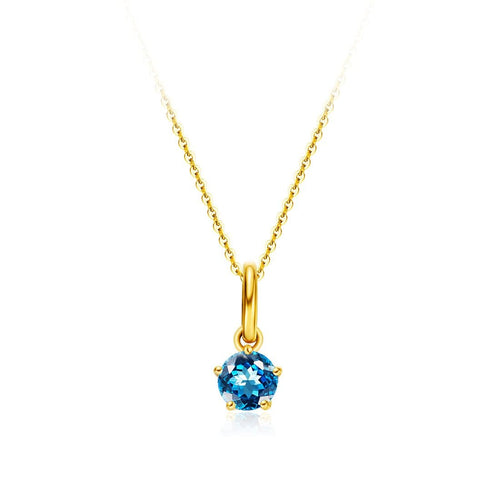 Delicate November Birthstone Topaz Necklace