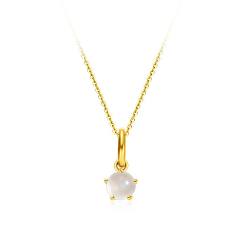 Delicate June Birthstone Moonstone Necklace - FANCI ME
