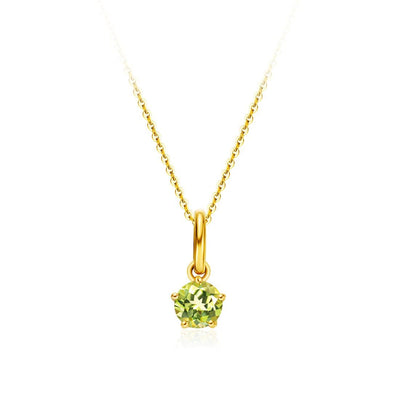 Delicate August Birthstone Peridot 18K Gold Necklace - FANCI ME