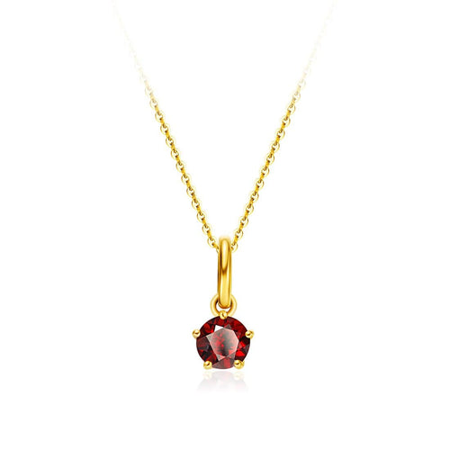 Delicate January Birthstone Garnet Necklace