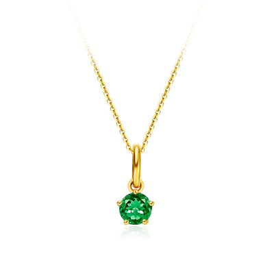 Delicate May Birthstone Emerald Necklace - FANCI ME