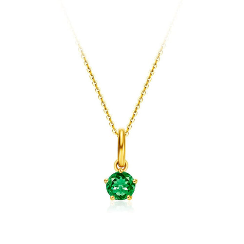 Delicate May Birthstone Emerald Necklace