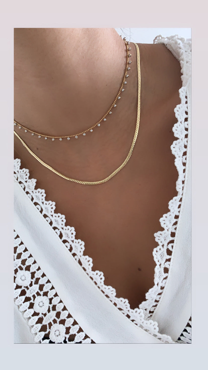 Skinny Flat Snake Necklace