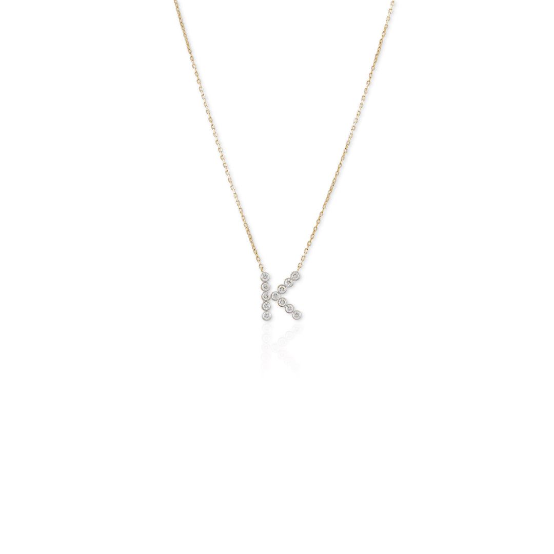 Mia Diamond Letter Necklace - Small