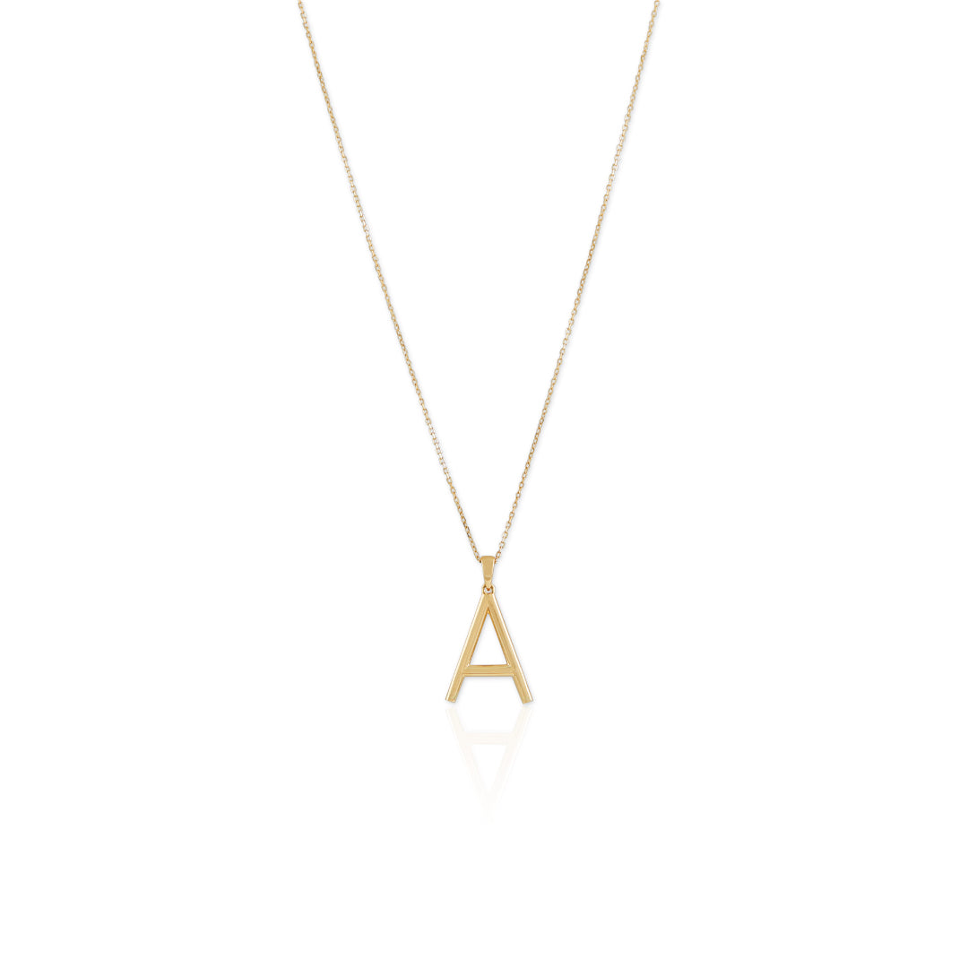 Mia Classic Letter Necklace - Large