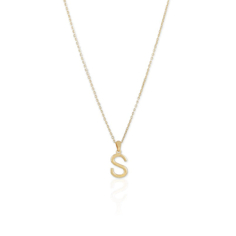 Mia Classic Letter Necklace - Small