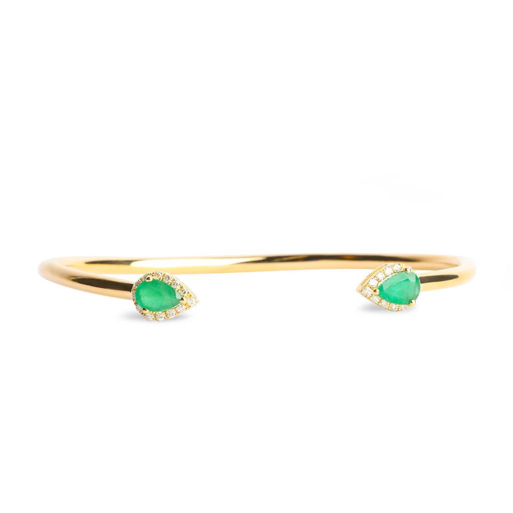 Emerald with diamonds Bangle