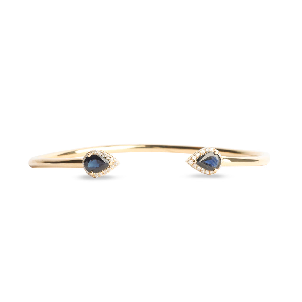 Sapphire with diamonds Bangle