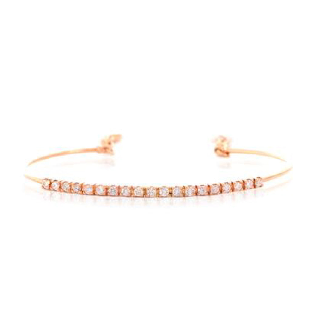 Half Diamond Bangle