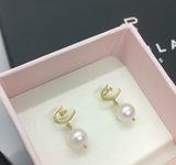 Letter Earrings with Pearl