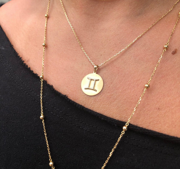 Coin Necklace - Embossed