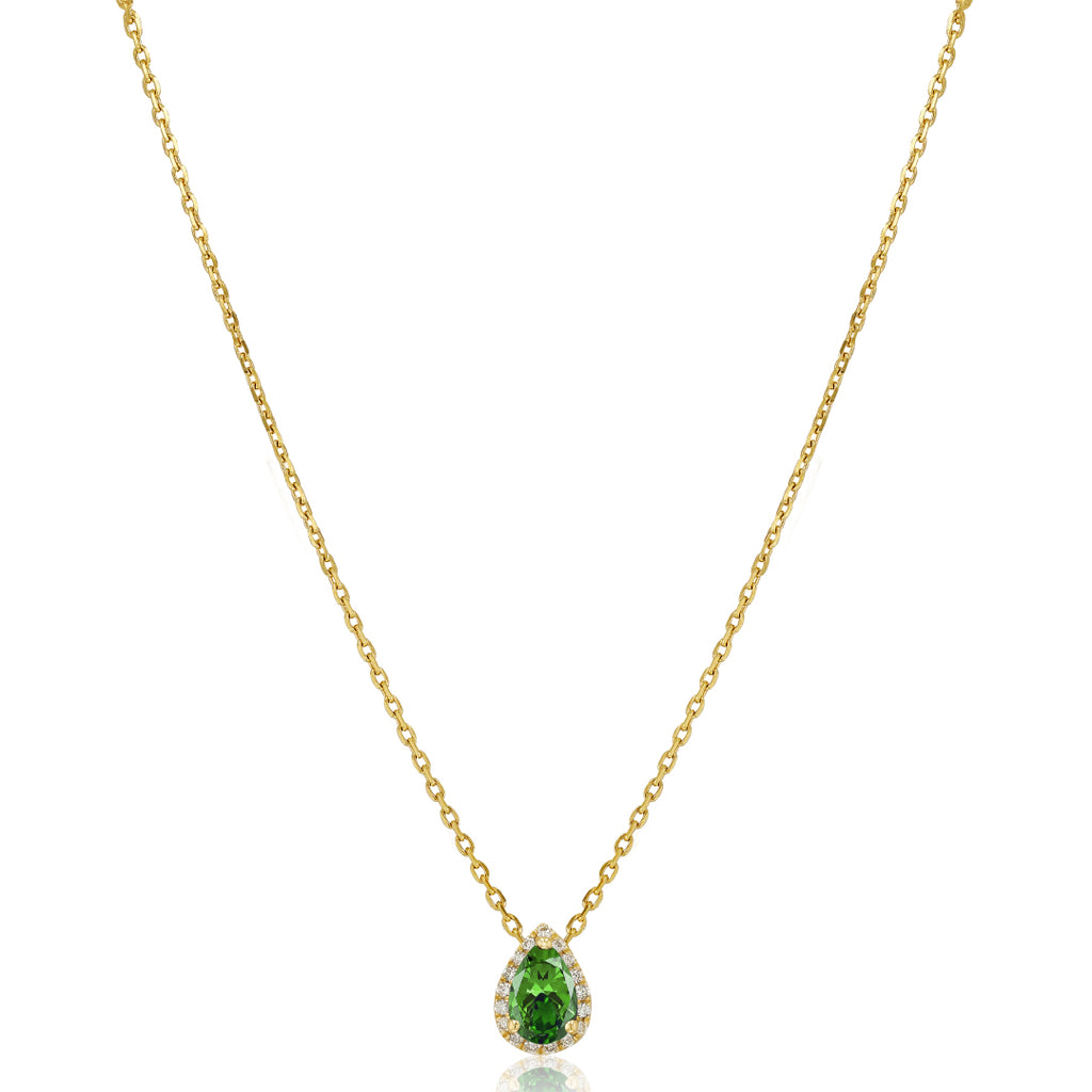 Emerald with diamond Necklace