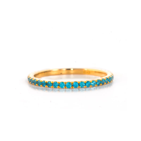 Sky Blue Zircon Ring