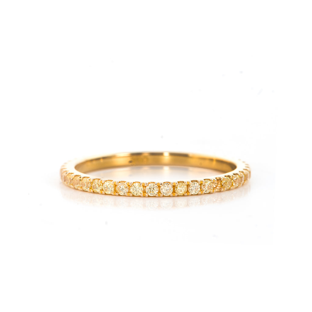 Yellow Zircon Ring