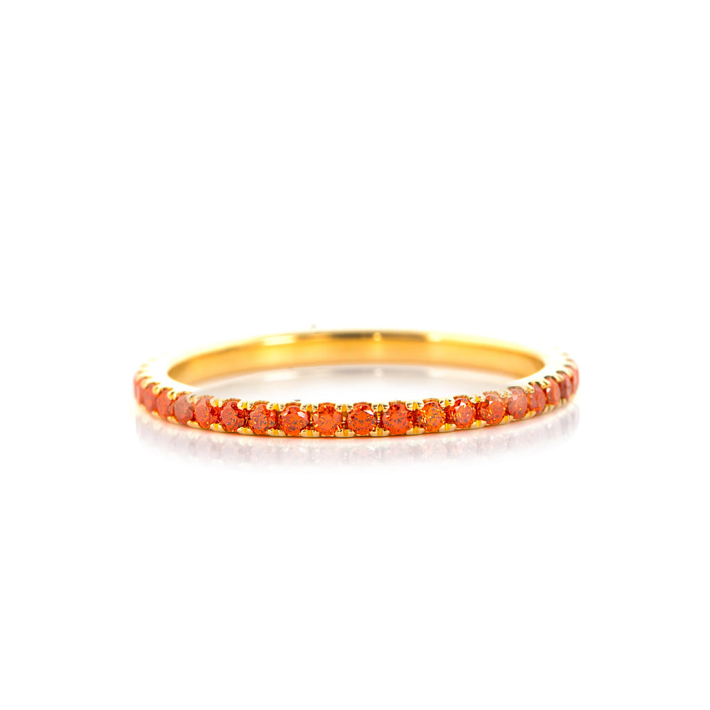 Orange Zircon Ring