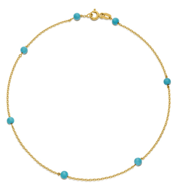 Something Blue - Turquoise anklet.