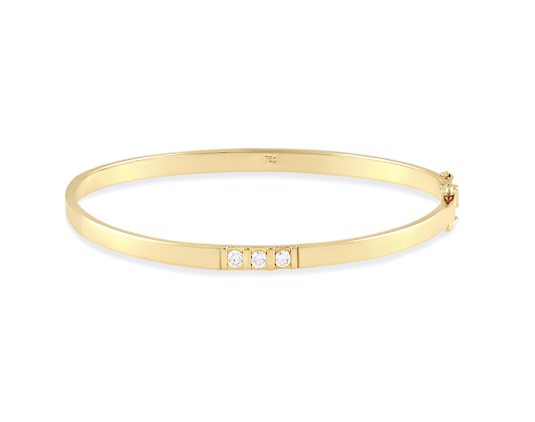 Stackable Bangle (3 Diamonds)