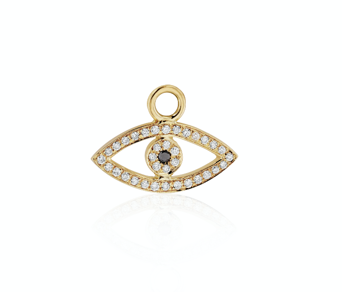 Diamond Evil Eye Charm (Single)