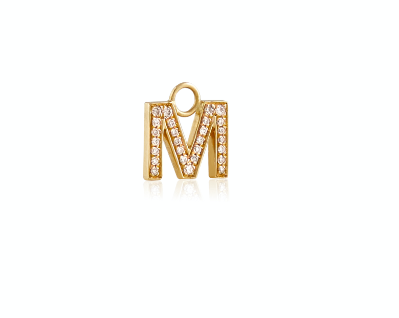 Sparkled letter Charm (Single).