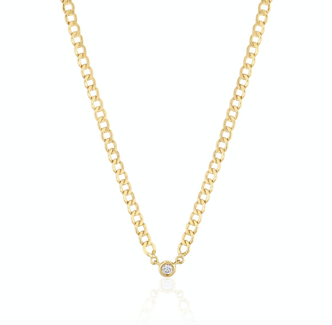 Sparkled Thin Chain Reaction Necklace