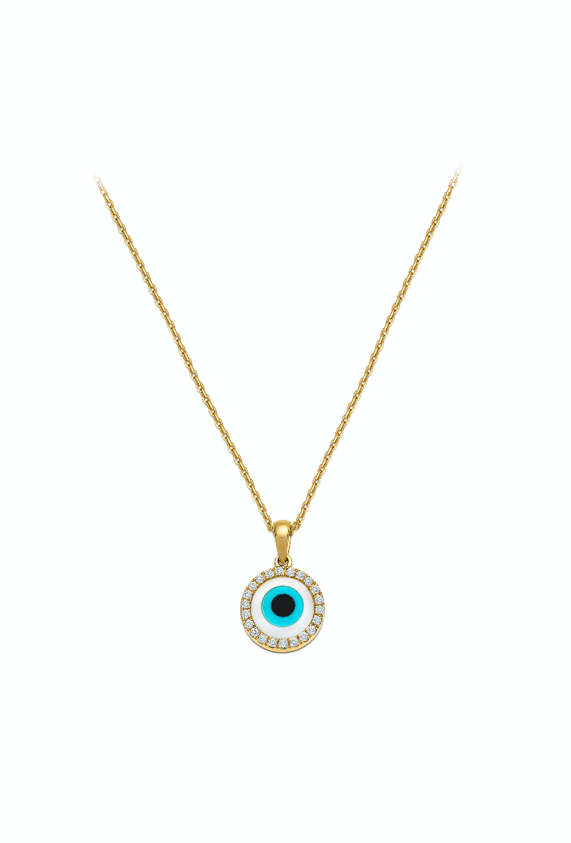 Evil Eye with diamonds Necklace
