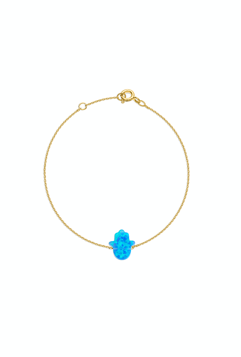 Something Blue - Hand of Fatima Anklet