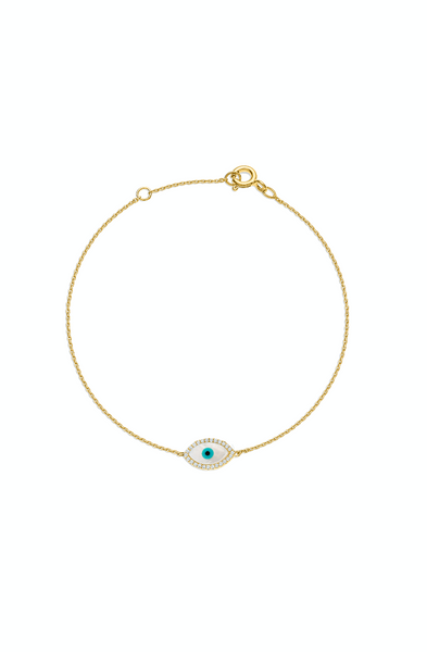 Evil Eye bracelet with diamonds