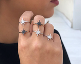 Starburst Ring - Black diamonds
