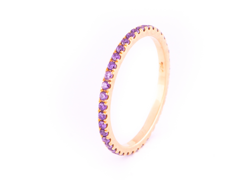 Purple Zircon Ring