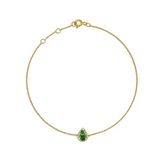 Pear Emerald with Diamonds Bracelet