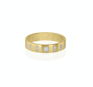 Moon Phase ring with diamonds