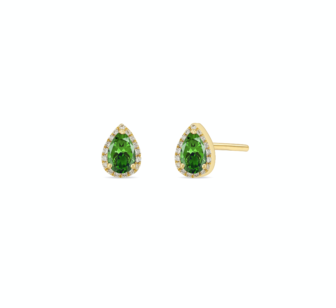 Emerald Iris Earrings