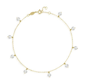 Pearl Quest Droplets Anklet