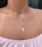 Moon Phase Gold Choker