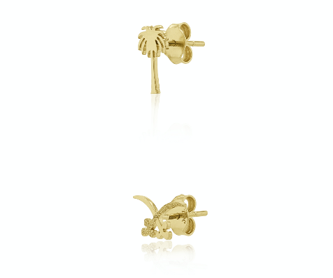 Saudi Palm & Sword Earring
