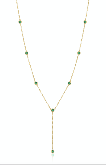 Emeralds Sparkle Necklace