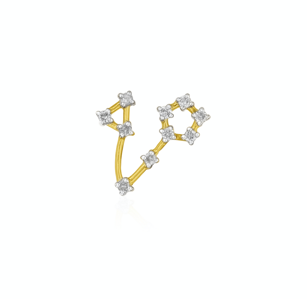 Pisces Constellation Earring (single).