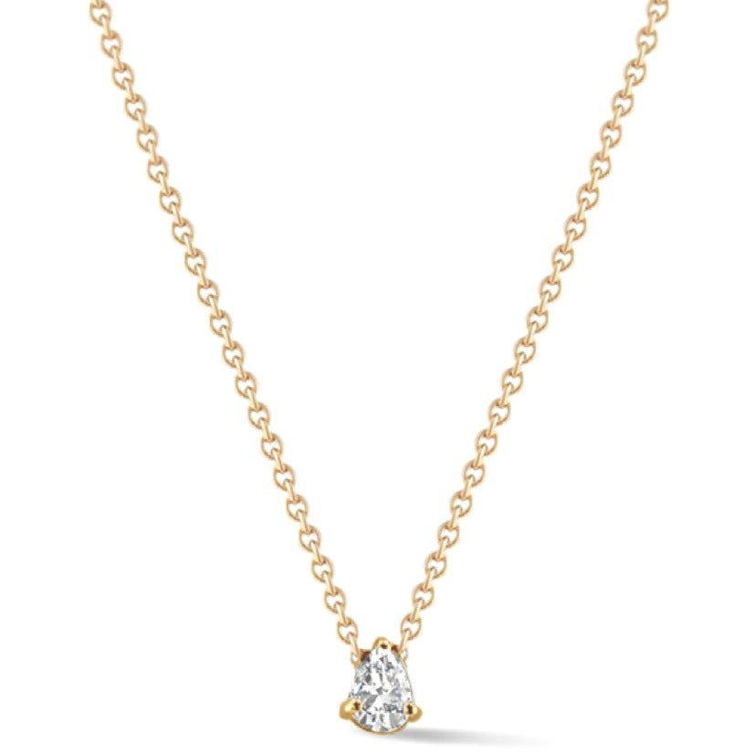 Shape of you - Pear Diamond Necklace
