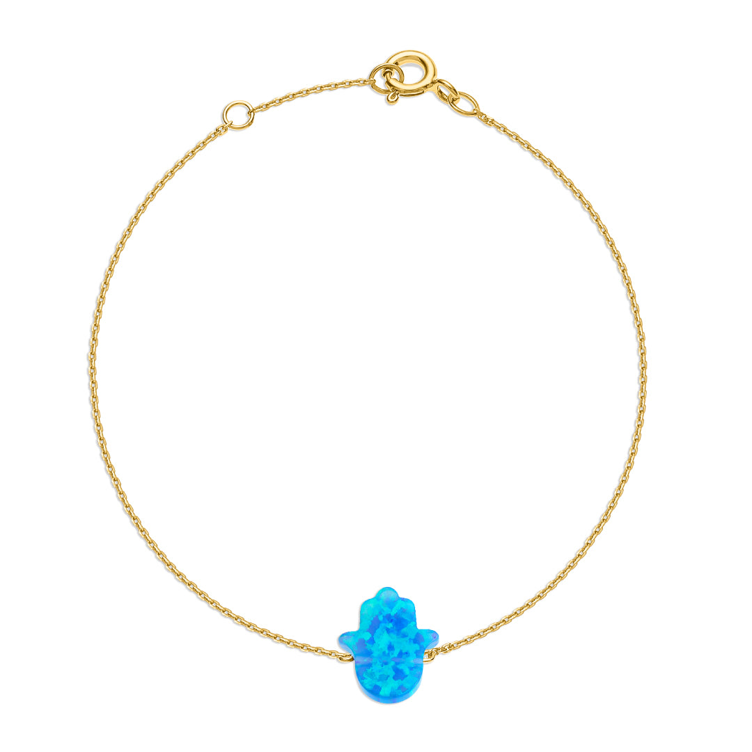 Something Blue- Hand of Fatima Bracelet