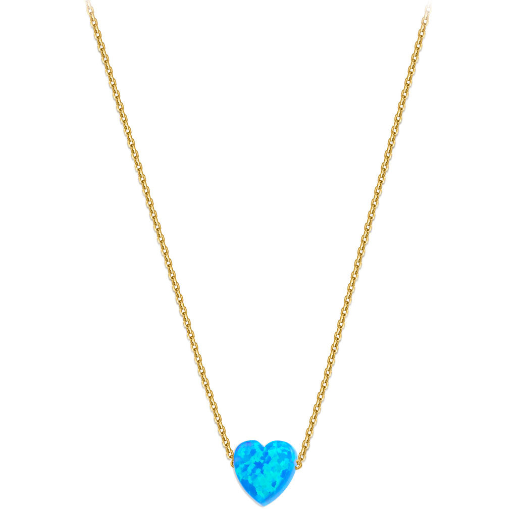 Something blue - Heart Necklace