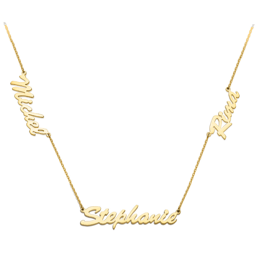 Three Names Necklace