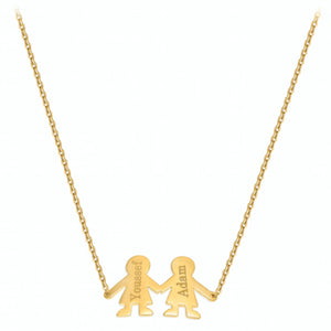 Two Angels Necklace