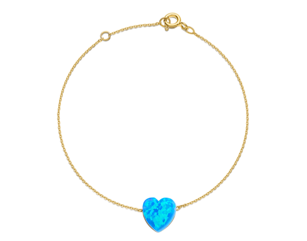 Something Blue Heart Anklet