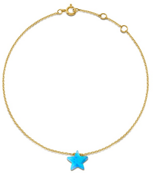 Something Blue - Star Anklet