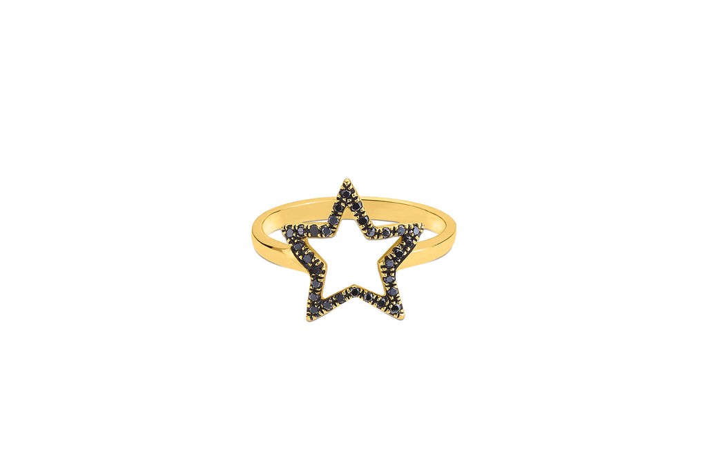 Superstar Black Diamond Ring
