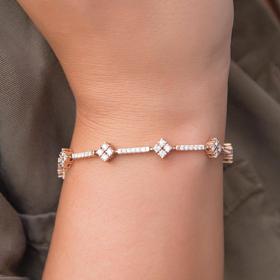 Stunner Tennis Diamond Bracelet